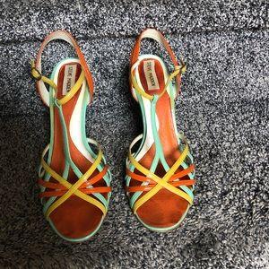 Steve Madden Multi Color Wedge Sandal